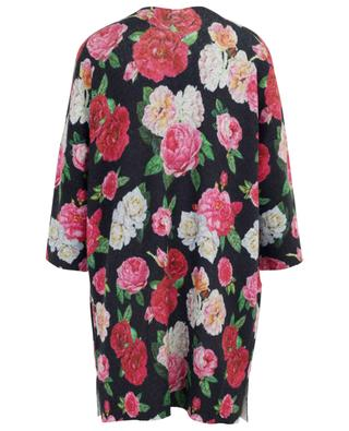 Rose print long open cardigan PRINCESS