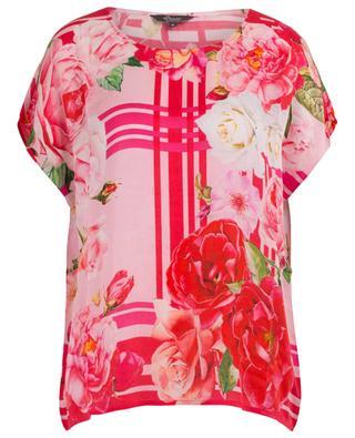 Floral printed short-sleeved top PRINCESS