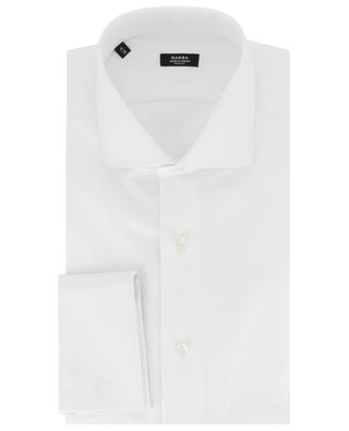 Einfarbiges Hemd aus Baumwolle BARBA
