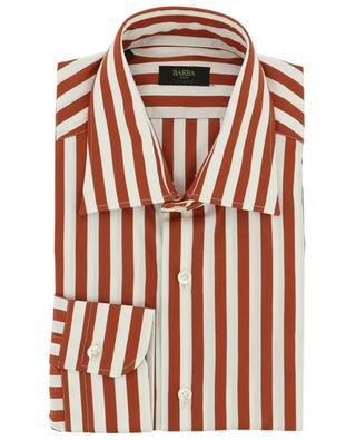 Striped cotton shirt with barrel cuffs BARBA