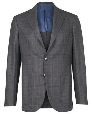 Einreihiger Woll-Blazer mit Glenchek-Muster G Lar BARBA