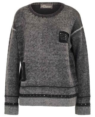 Pullover aus Wolle und Kaschmir mit Strass PRINCESS