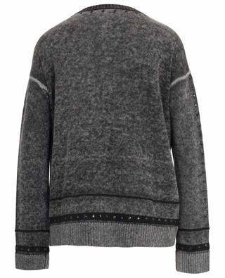 Rhinestone adorned wool and cashmere jumper PRINCESS
