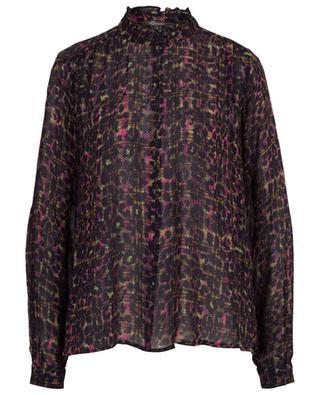 Check and Leo printed viscose blouse PRINCESS