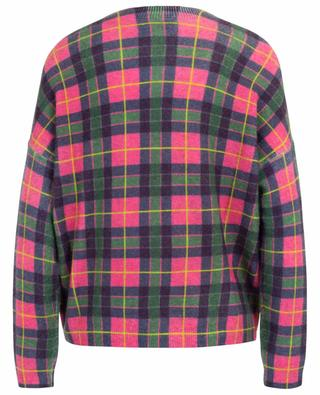 Neon check boxy jumper PRINCESS