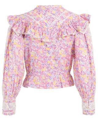 Susanne Jetset embroidered floral cotton top LOVESHACKFANCY