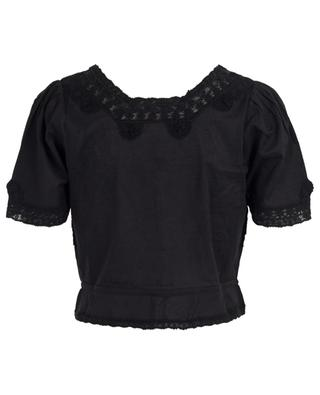 Top raccourci orné de dentelle Grace LOVESHACKFANCY