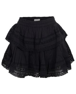 Ruffle lace embellished mini skirt LOVESHACKFANCY