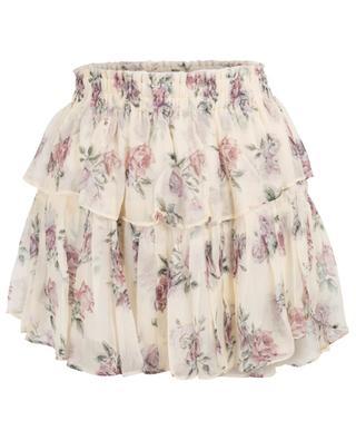 Dream floral mini ruffle skirt LOVESHACKFANCY