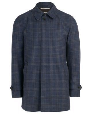 Short check virgin wool coat MAURIZIO BALDASSARI