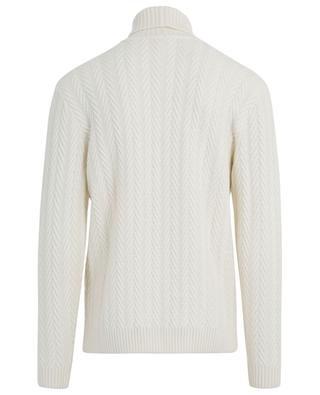 Thick braid effect turtleneck jumper MAURIZIO BALDASSARI