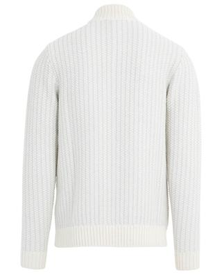 Thick wool jumper with zippered mock collar MAURIZIO BALDASSARI