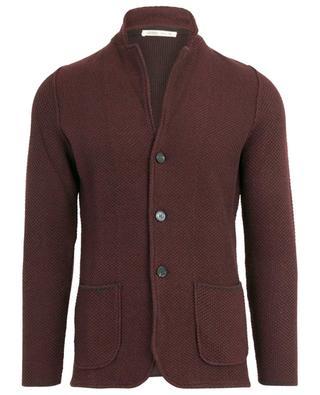 Quadretto textured wool cardigan MAURIZIO BALDASSARI