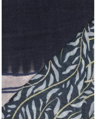 Fidèle car and leaf print scarf STORIATIPIC