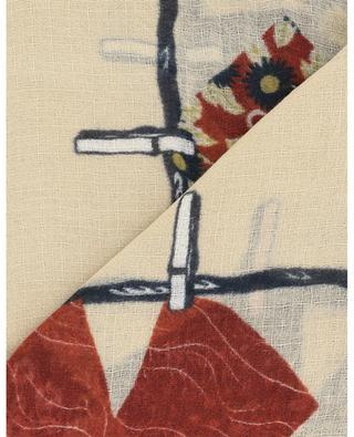 Feiner Schal mit Wäscheprint und Lurex Délicate STORIATIPIC