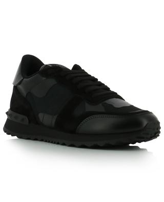 Niedrige Materialmix-Sneakers Camouflage VALENTINO