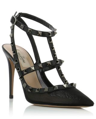 Rockstud leather and mesh pumps VALENTINO