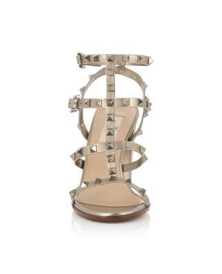Sandalen aus metallisiertem Leder mit Nieten Rockstud VALENTINO