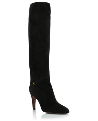 VLOGO slouchy suede heeled boots VALENTINO