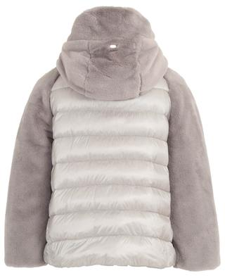 Hooded faux fur quilted jacket HERNO