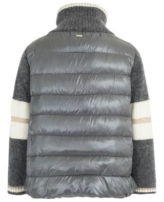 Quilted jacket with mohair and wool stand-up collar HERNO