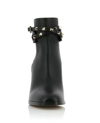 Rockstud grained leather ankle boots VALENTINO