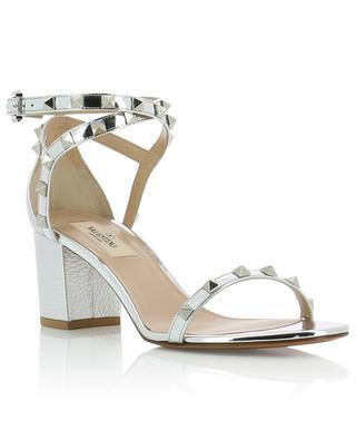 Sandales en cuir argenté Rockstud 60 VALENTINO