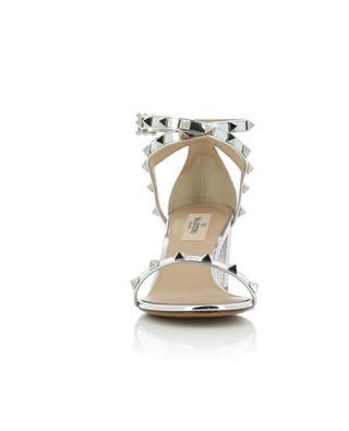 Sandalen aus silbernem Leder Rockstud 60 VALENTINO