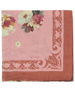Floral square shawl in wool and silk ETRO