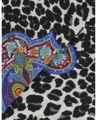 Foulard carré taches léopard et paisley Bombay ETRO