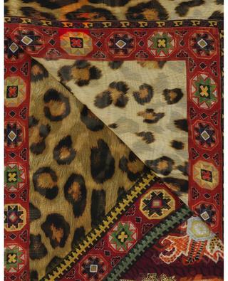 Halstuch aus Seide mit Leopad-Print ETRO