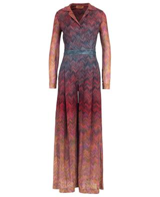 Zig zag patterned wrap effect knit jumpsuit MISSONI