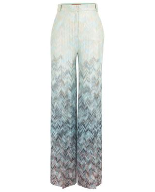 Wide leg knit trousers with zigzag pattern MISSONI
