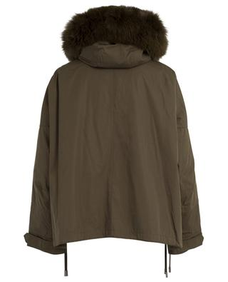 Short parka with hood and fur Y SALOMON ARMY