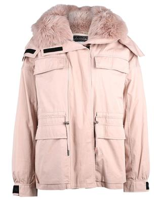Hooded short parka with real fur Y SALOMON ARMY