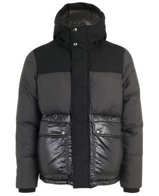 Intarsia Mountain oversized wool blend down jacket WOOLRICH