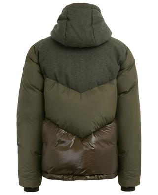 Intarsia Mountain oversized wool blend down jacket WOOLRICH