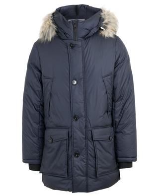 Faux fur adorned hooded parka WOOLRICH