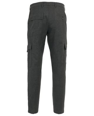 Pantalon cargo raccourci en laine mélangée PAOLO PECORA