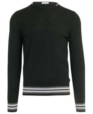 Crew neck jumper with stripes PAOLO PECORA