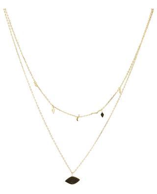 Zweisträngige Halskett aus vergoldetem Silber Eye AVINAS