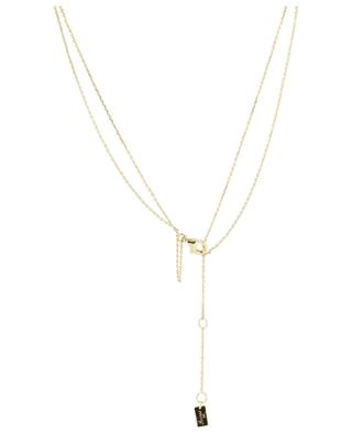 Eye gold plated silver two-string necklace AVINAS