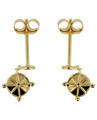 Cross gold plated silver earrings AVINAS