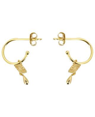 Eye gold plated silver hoop earrings AVINAS