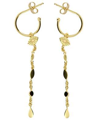 Zweisträngige Halskette aus vergoldetem Silber Losange AVINAS