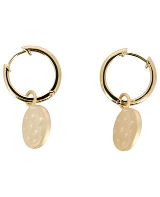 Moon gold plated silver hoop earrings AVINAS