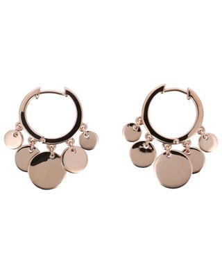 Confetti pink gold plated silver hoop earrings AVINAS