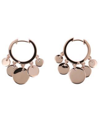 Confetti pink gold plated silver hoop earrings AVINAS
