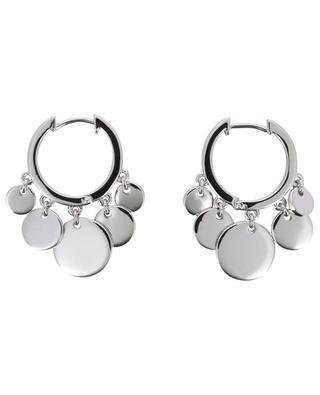 Confetti rhodium plated hoop earrings AVINAS