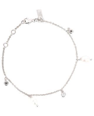 Armband aus rhodiniertem Silber Pearl AVINAS